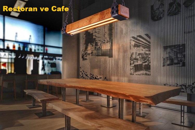 Restoran ve Cafeler İçin Ahşap Aydınlatma