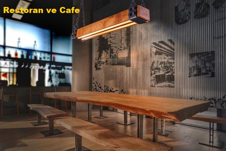 Ahşap Aydınlatma Kullanım Alanları - Restoran ve Cafeler