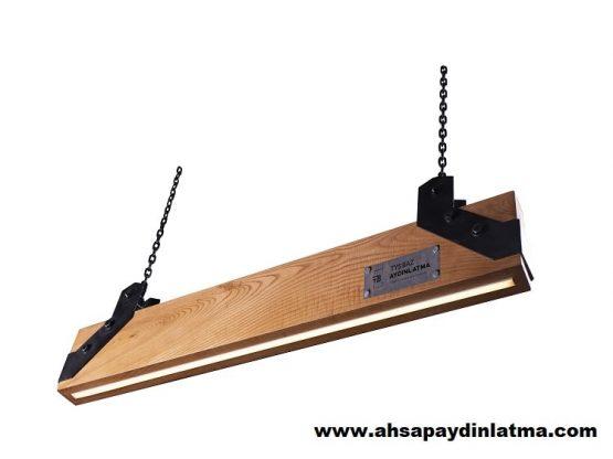 Feldspar Sarkıt Dekoratif Ahşap Aydınlatma Modeli 3