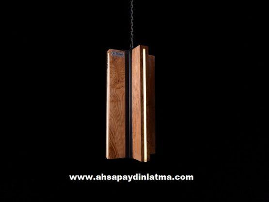 Lantern Sarkıt Dekoratif Ahşap Aydınlatma Modeli 5